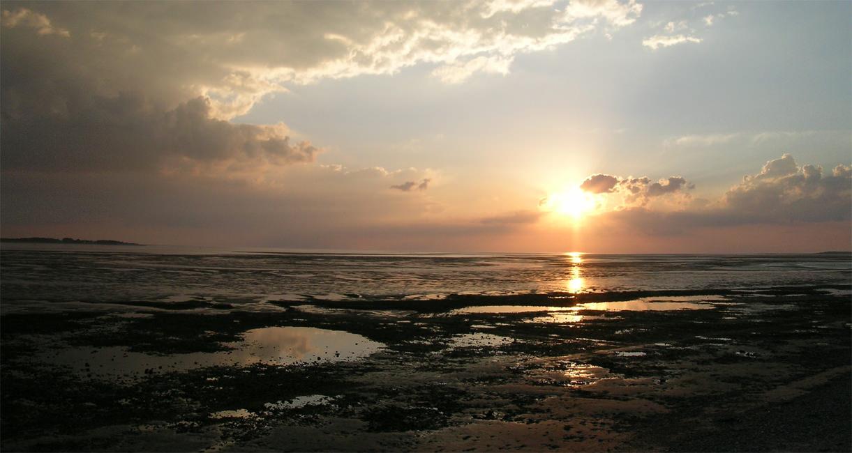Le_Crotoy_coucher_de_soleil_sur_la_baie_de_Somme